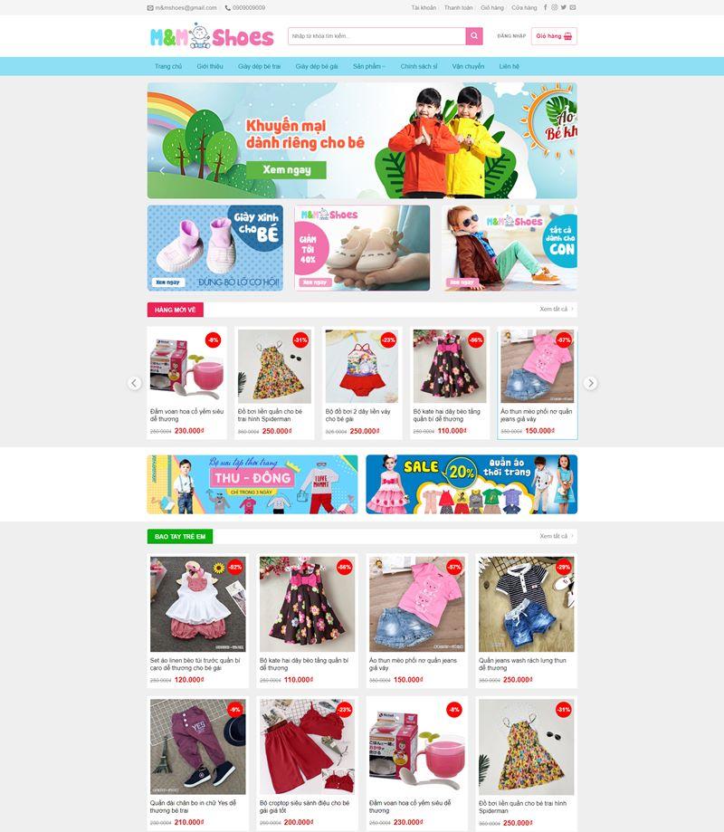 Thietkeweb247 - Baby shop2